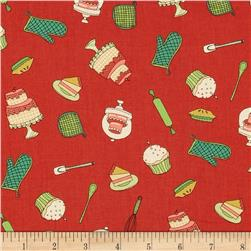 Kitschenette Tossed Baking Red