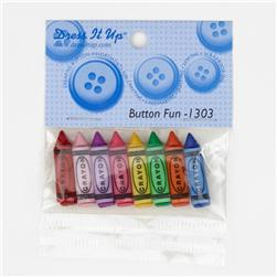 Dress It Up Embellisment Buttons  Button Fun Crayons