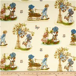 Holly Hobbie Flannel Holly Scenic Cream
