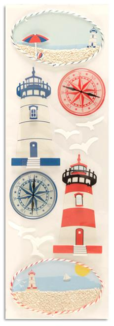 Martha Stewart Crafts Stickers Lighthouse & Compass