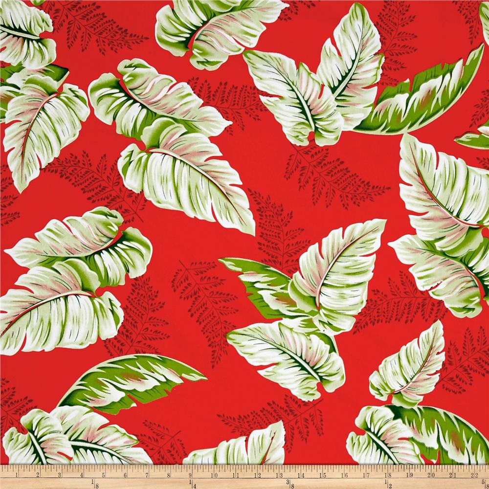 Tropical Dream Palm Shirting Red/Green