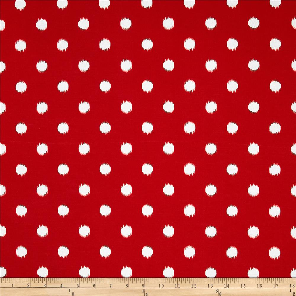 Premier Prints Indoor/Outdoor Ikat Dots Rajo Red