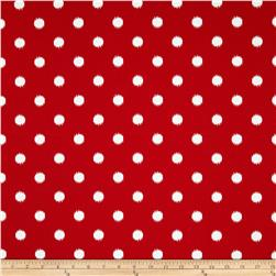 Premier Prints Indoor/Outdoor Ikat Dots Rojo Red Fabric
