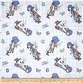 Holly Hobbie Holly Tossed On Gingham Blue