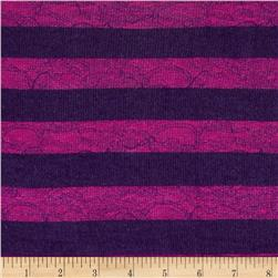 Designer Hatchi Sweater Knit Stripes Marble Purple