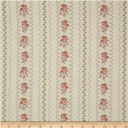 Gentle Gardens Needlepoint Stripe Taupe