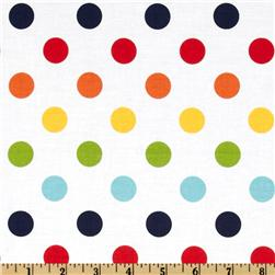 Riley Blake Dots Medium Rainbow