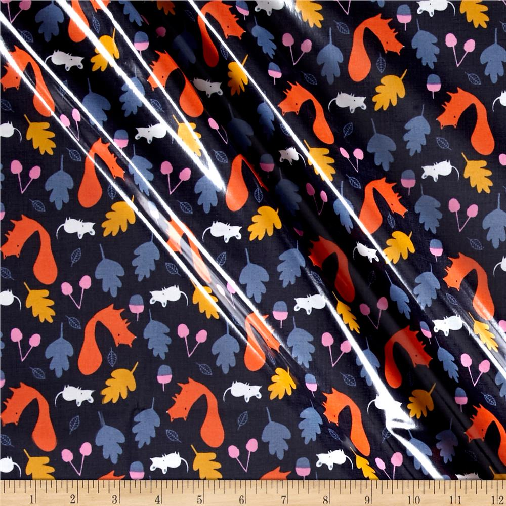 Cloud 9 Orangic Laminate Woodland Critters Navy