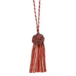 "Fabricut 8"" Tantalize Cushion Tassel Cherry Vanilla"