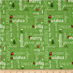 Moda Jingle Winter Wishes Cedar
