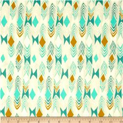 Cotton & Steel August Diamond Back Teal