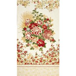 Oriental Traditions Metallic Oriental Panel Vintage Fabric