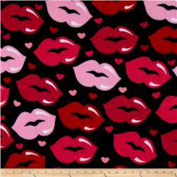 Love & Kisses Fleece Black