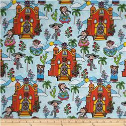 Mexican Folklore Mexico Villa Blue/Multi