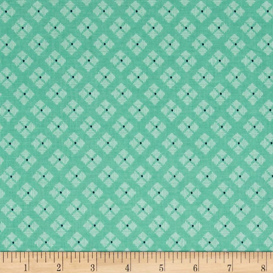Riley Blake Bee Basics Stitched Flower Teal