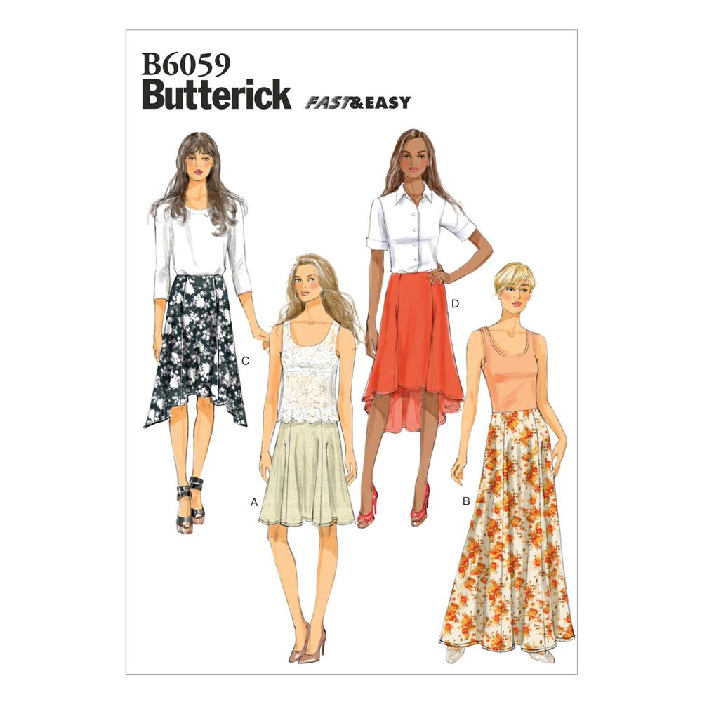 Butterick Misses' Skirt Pattern B6059 Size A50