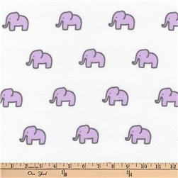 Kaufman Little Safari Flannel Elephants Lavender