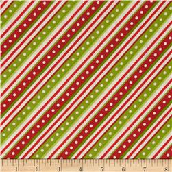 Kimberbell's Merry & Bright Diagonal Stripe White