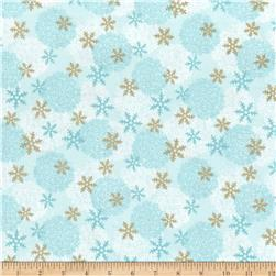 Paris Christmas Metallic Snowflakes Blue