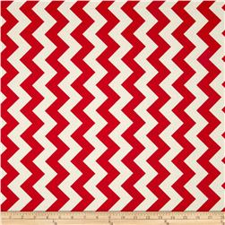 Riley Blake Le Creme Basics Chevron Red/Cream Fabric