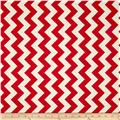 Riley Blake Le Creme Basics Chevron Red/Cream