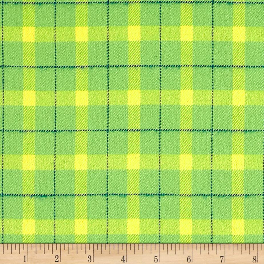 marcus primo plaids color crush flannel block plaid lime. Black Bedroom Furniture Sets. Home Design Ideas