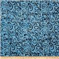 Timeless Treasures Tonga Batiks Oceana Waves Baltic