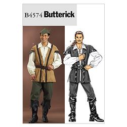 Butterick Men's Costume Pattern B4574 Size XM0