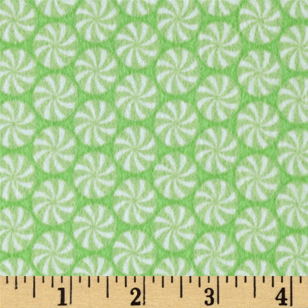 Riley Blake Home for the Holiday's Flannel Peppermint Green
