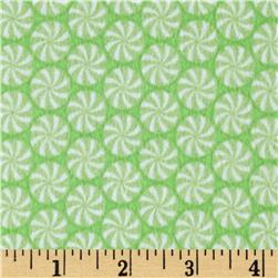Riley Blake Home for the Holidays Flannel Peppermint Green