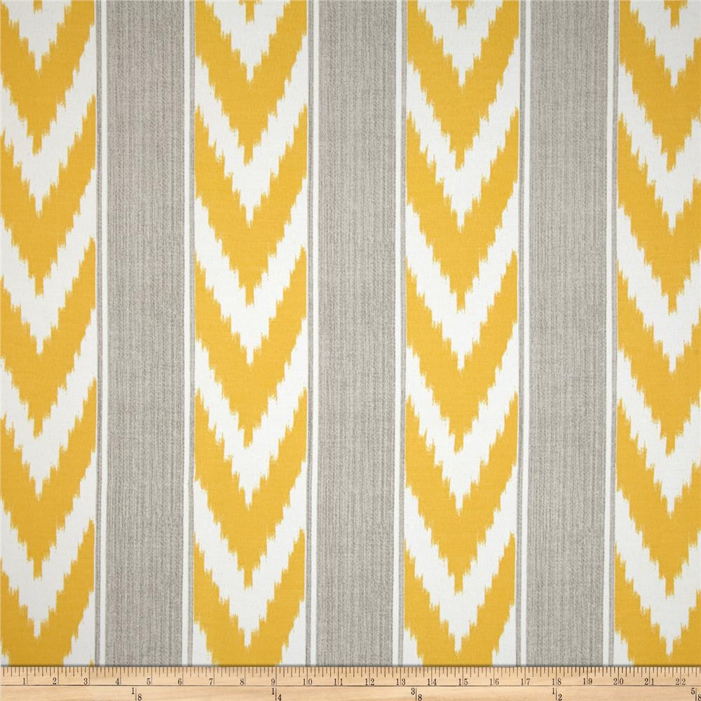 P Kaufmann Indoor/Outdoor Ikat Stripe Sunburst