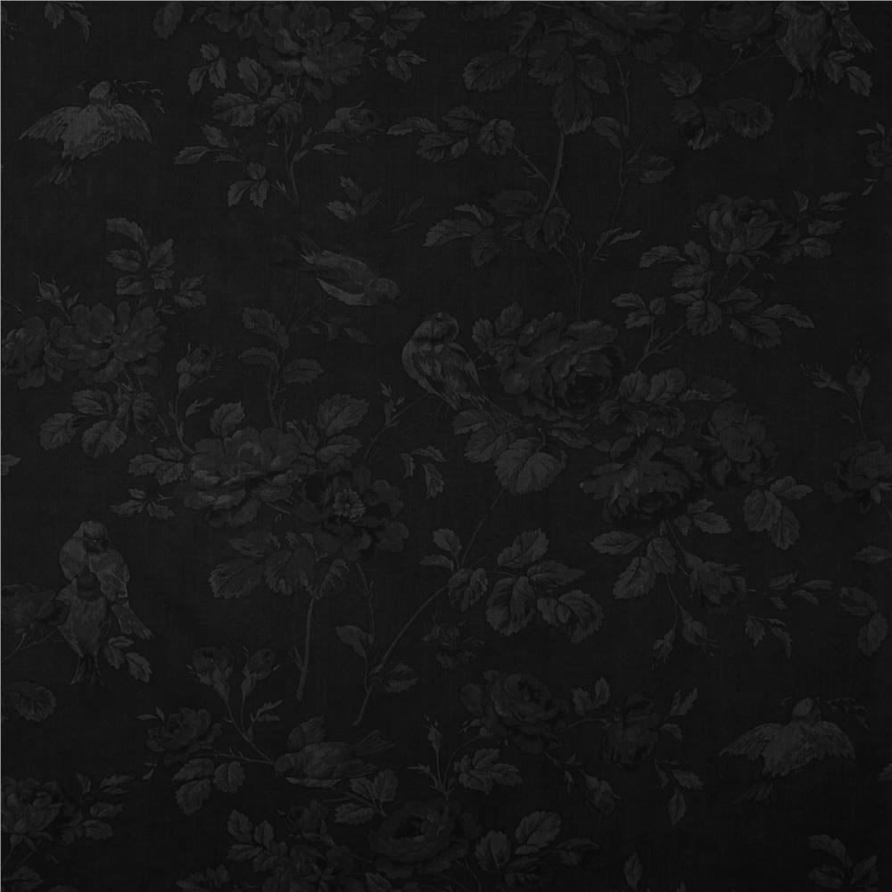 Moda Wintergreen Winter Botanical Tonal Ebony