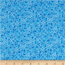 Cuddle Flannel Swirls Blue