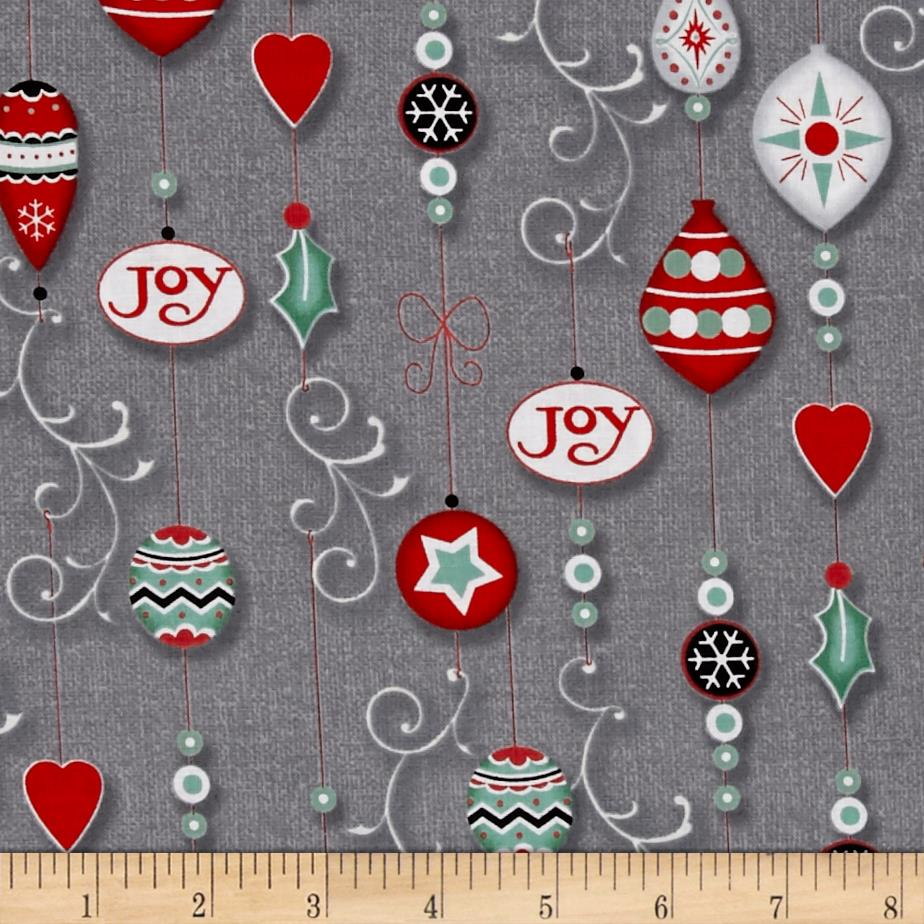 Christmas Wishes Ornaments Grey