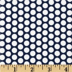 Riley Blake Flannel Honeycomb Dot Navy Fabric