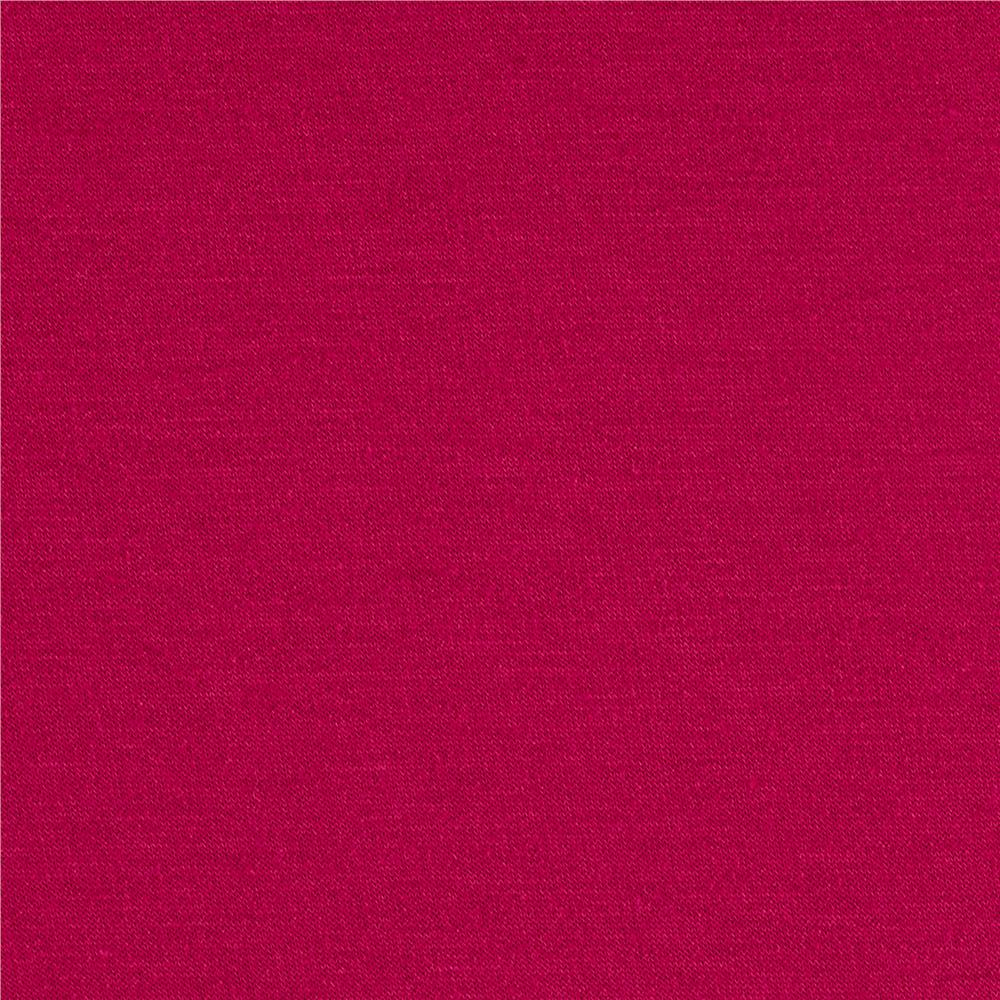 French Terry Knit Solid Magenta