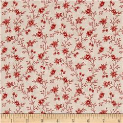 Moda Snowberry Floral Vine Cloud/Berry