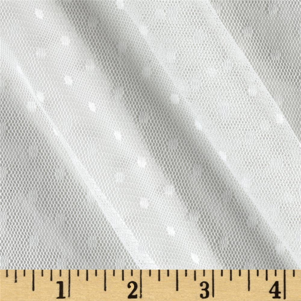 Swiss Dot Mesh White