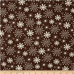 Sweetie Pie Snowmen Snowflakes Brown