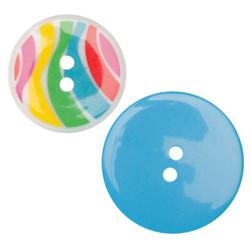 Fashion Buttons 1 1/8'', 1 3/8'' Coordinates Rainbow Multi