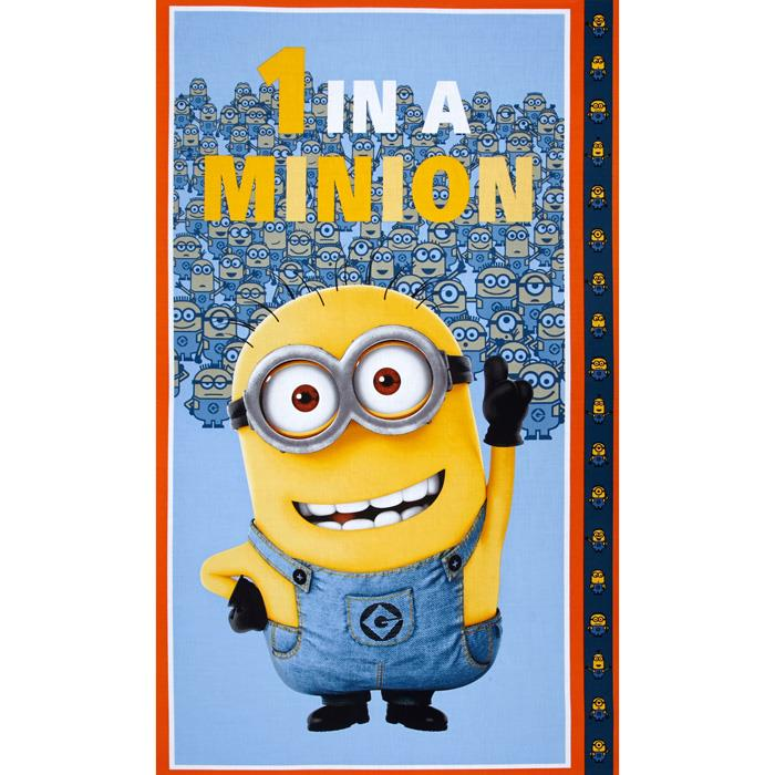 Universal Despicable Me 1 in A Minion 24 In. Panel Dusty Blue Fabric By The Yard