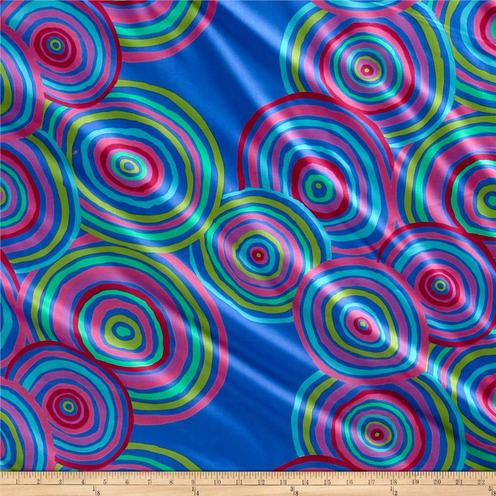 Kaffe Fassett 108'' Wide Quilt Back Sateen Circles Blue Fabric
