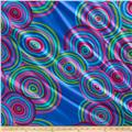 "Kaffe Fassett 108"" Wide Quilt Back Sateen Circles Blue"