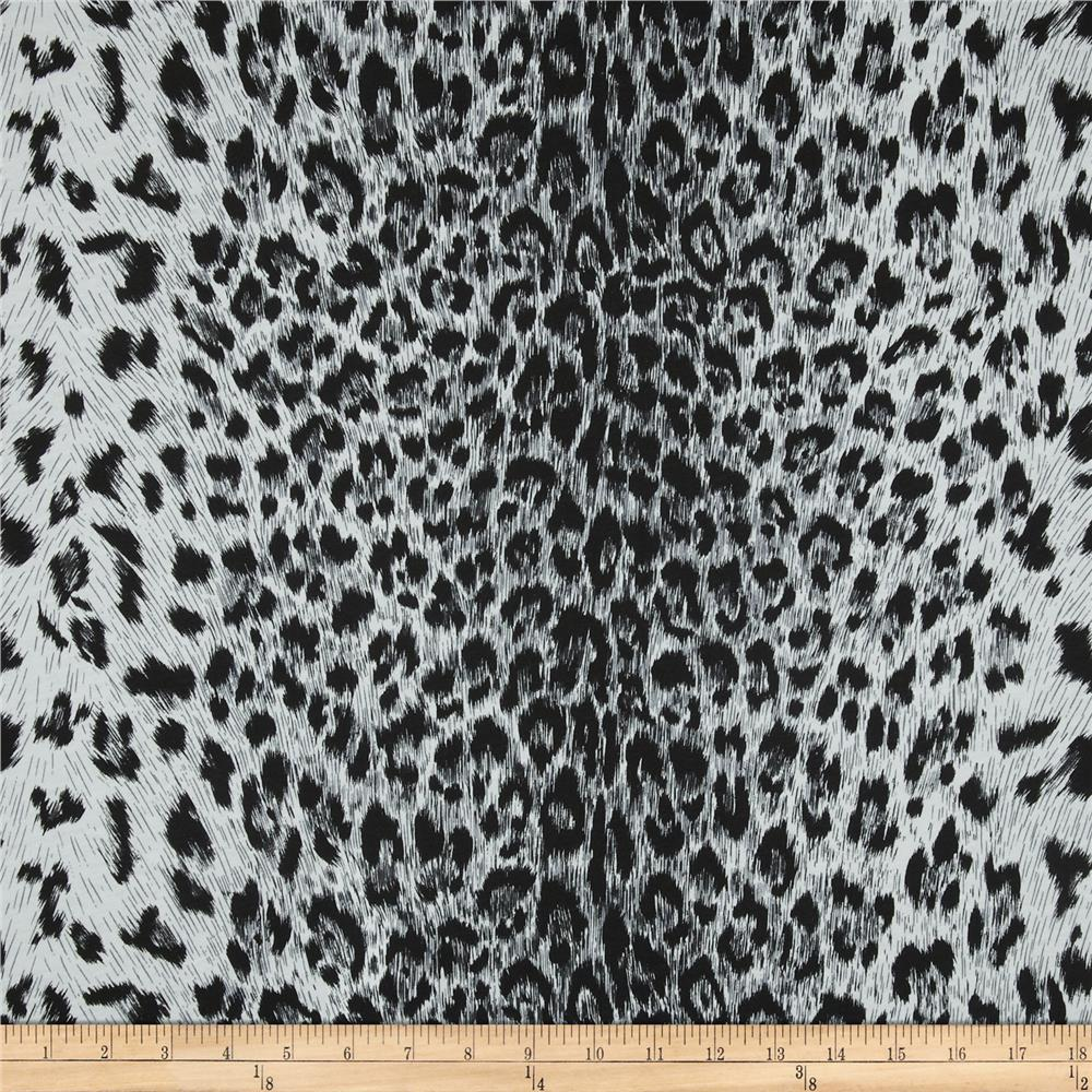 Cotton Jersey Knit Leopard Black/White