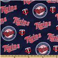MLB Fleece Minnesota Twins Tossed Red/Navy