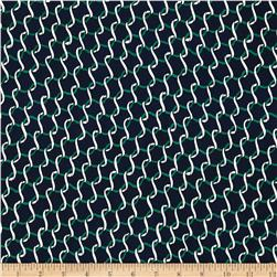 Crepe De Chine Ribbon Navy