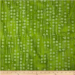 Indian Batiks Hollow Ridge Line Dots Lime