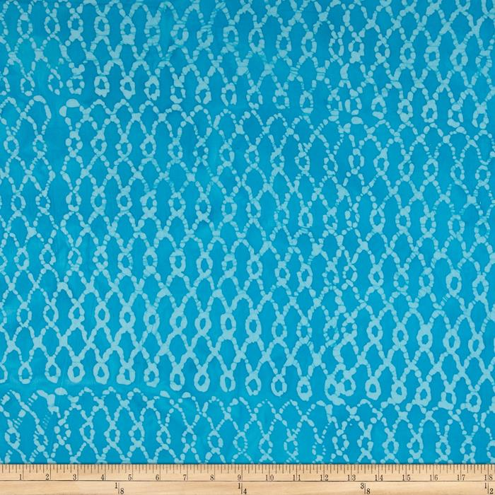 Indian Batik Hollow Ridge Grid Aqua