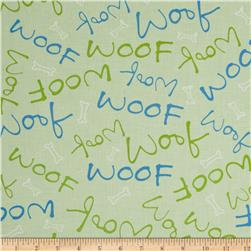 Paw Prints Woof Lime
