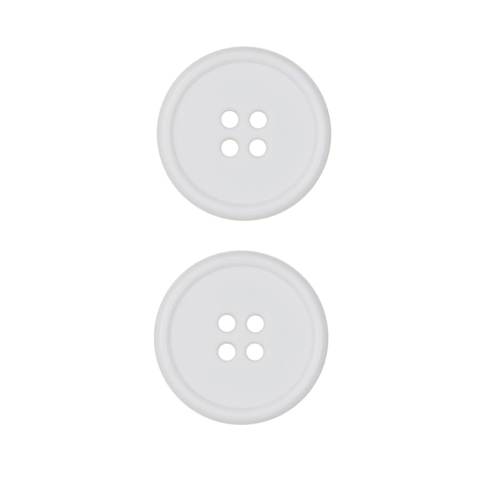 Dill Buttons 1'' Polyamid Button White